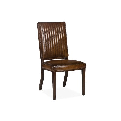 Hancock and Moore Channel Quilted Dining Side Chair