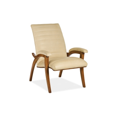 Hancock and Moore Leather Channel Quilted Chair