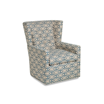 Hancock and Moore Swivel Button Back Chair