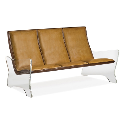Hancock and Moore Leather Sofa with Walnut Wood