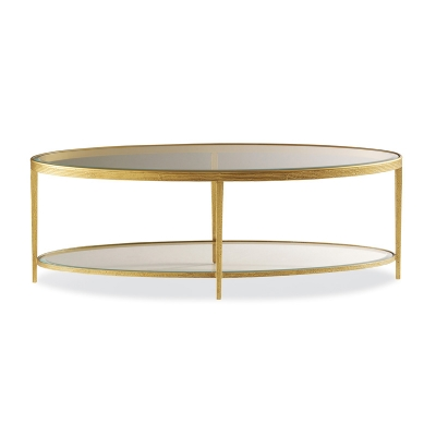 Hancock and Moore Brass Cocktail Table