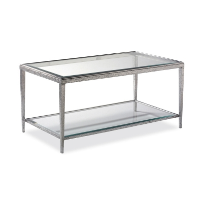 Hancock and Moore Nickel Cocktail Table