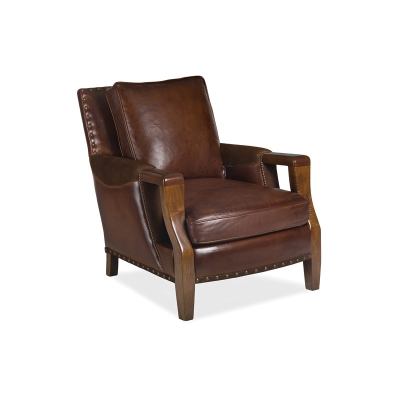 Hancock and Moore Leather Chair with Top Panel