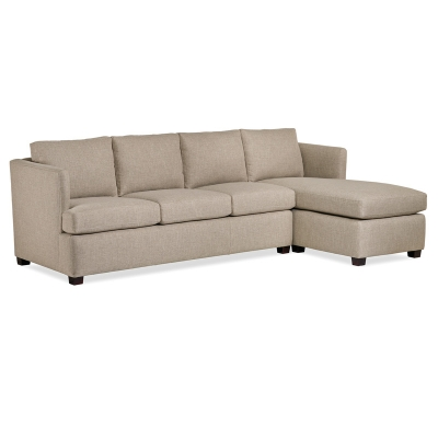 Hancock and Moore Misha Sectional Right Arm Facing Chaise
