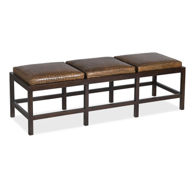Hancock and Moore Leather Bench