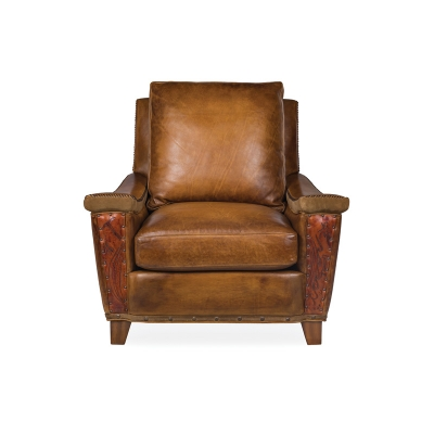 Hancock and Moore Leather Chair with Viking Arms