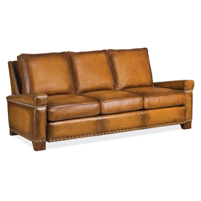 Hancock and Moore Leather Loose Back Sofa