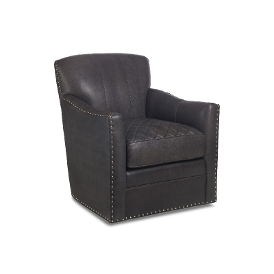 Hancock and Moore Quilted Swivel Chair