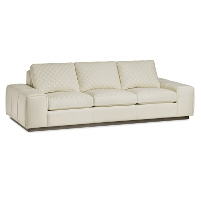 Hancock and Moore Leather Quilted Sofa