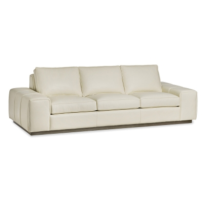 Hancock and Moore Leather Sofa with plinth Base