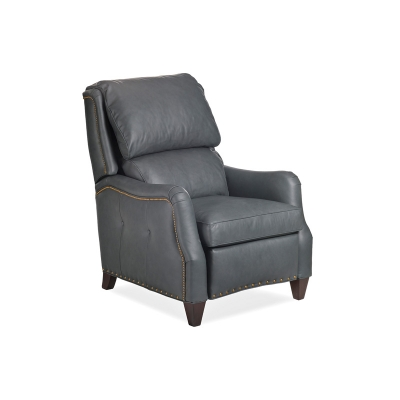 Hancock and Moore Leather Power Recliner with Battery