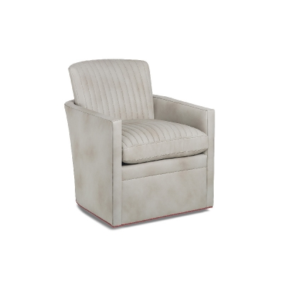 Hancock and Moore Channel Quilted Swivel Chair