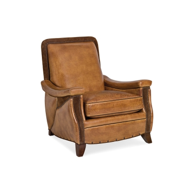 Hancock and Moore Arm Chair with Triple Cut Out Arm