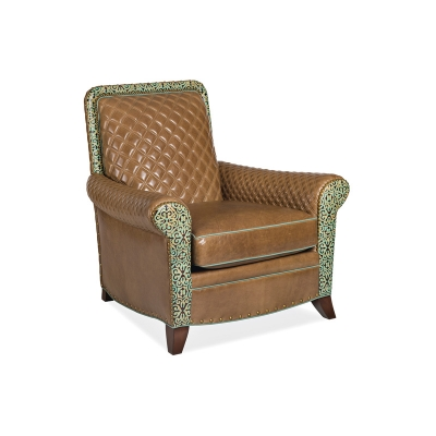Hancock and Moore Quilted Leather Chair