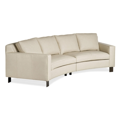Hancock and Moore Leather Beach Sectional
