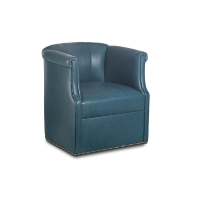 Hancock and Moore Leather Swivel Chair