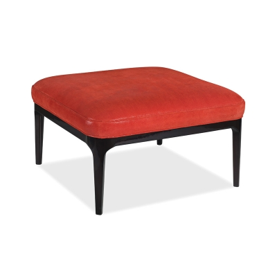 Hancock and Moore Leather Cocktail Ottoman
