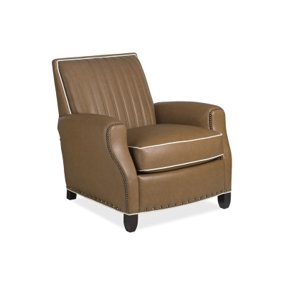 Hancock and Moore Leather Quilted Chair