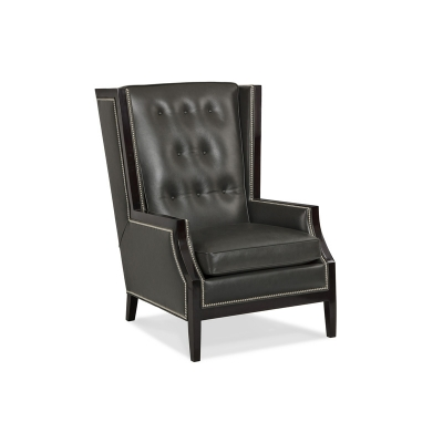 Hancock and Moore Tufted Wing Chair