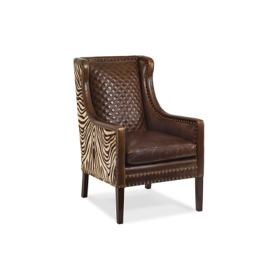Hancock and Moore Quilted Back Chair