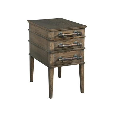 Hekman Side Table with Bar Pulls