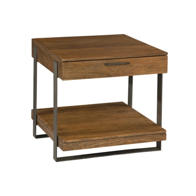 Hekman Iron Strapping Lamp Table with Drawer