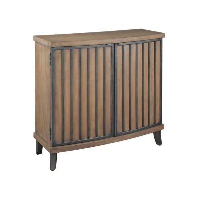 Hekman Burnished Brown and Pewter Chest