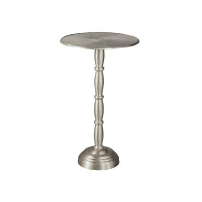 Hekman Brushed Nickel Chairside Table