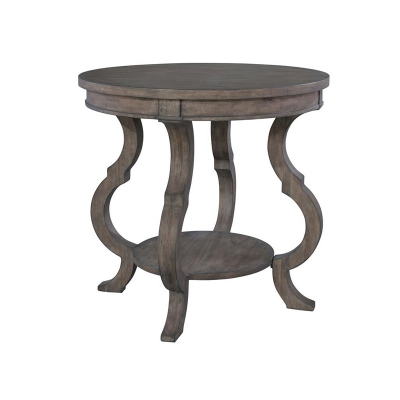 Hekman Round Lamp Table with Shaped Legs