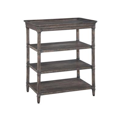 Hekman Three Shelf Lamp Table