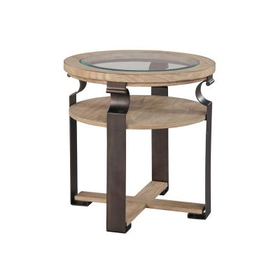 Hekman Weathered Wood Round Lamp Table