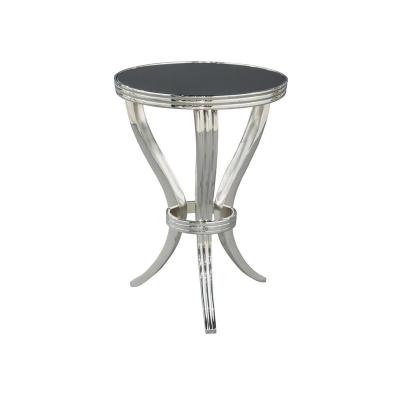 Hekman Polished Metal Table With Stone Top
