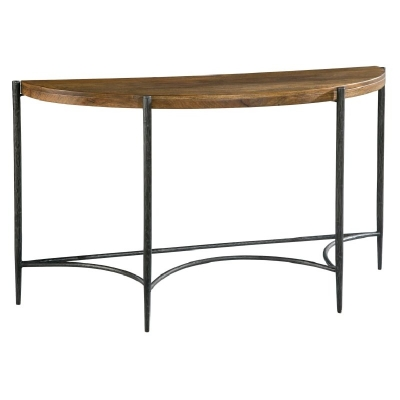 Hekman Metal and Wood Demilune Table