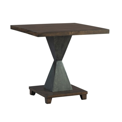Hekman Metal Pedestal Base Lamp Table