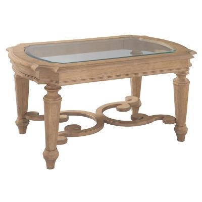Hekman Grand Vista Rectangular Glass Top Coffee Table