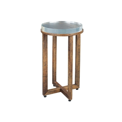 Hekman Arcrylic Top Side Table