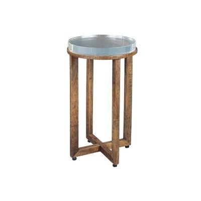 Hekman Arcrylic Top Side Table