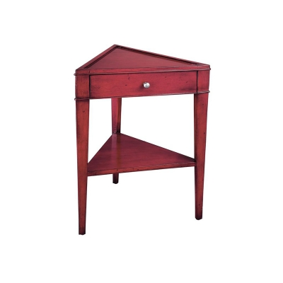 Hekman Triangular Chairside Table