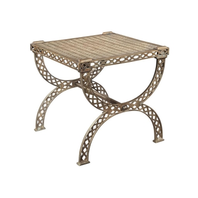 Hekman Grate Top X Bench Side Table