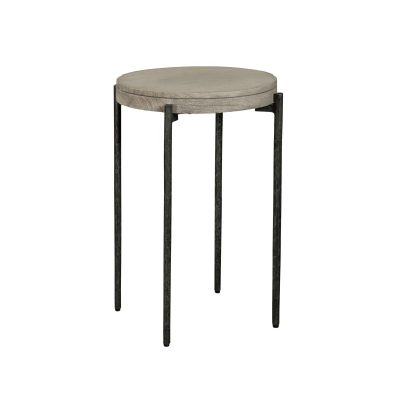 Hekman Gray Chairside Table