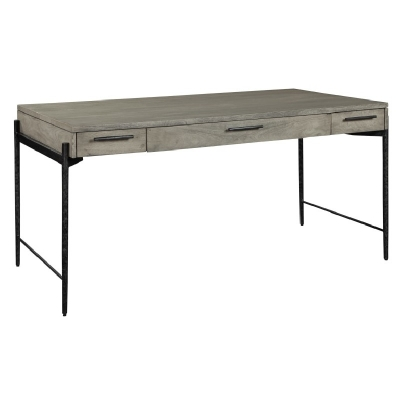 Hekman Gray Desk with Forged Legs