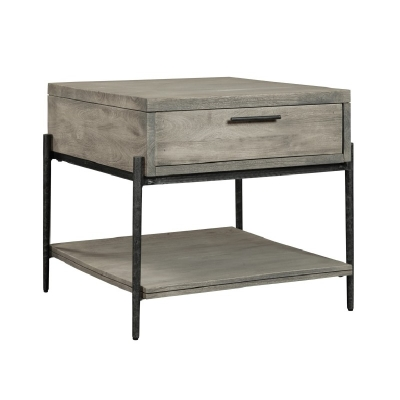 Hekman Gray End Table with Drawer