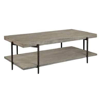 Hekman Gray Rectangular Coffee Table with Shelf
