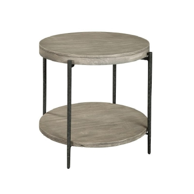Hekman Gray Round Side Table