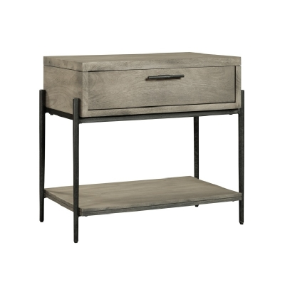 Hekman Gray Single Drawer Night Stand