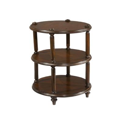 Hekman Round 3 Tier Lamp Table