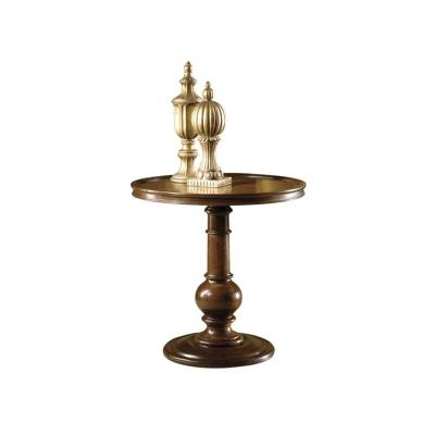 Hekman Round Pedestal End Table