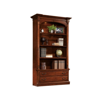 Hekman Weathered Cherry Executive Bookcase