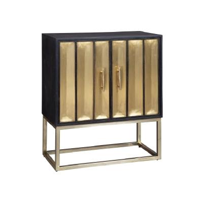 Hekman Brass Door Cabinet