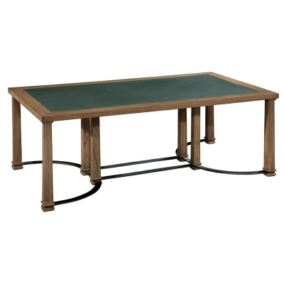 Hekman Iron and Blue Stone Coffee Table